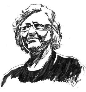 Kristiina Kolehmainen porträttrerad av Mattias Elftorp